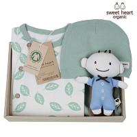 [출산선물/백일선물/돌선물]오가닉 나뭇잎 행복 선물세트