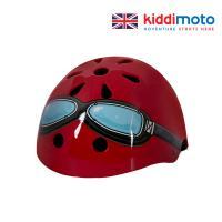 키디모토 헬맷 레드 고글 안전헬멧/아동용헬멧/킥보드헬멧