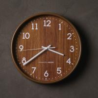 오리엔트 무소음 OT871 내츄럴우드패턴벽시계 브라운