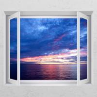 ta038-바다와구름_창문그림액자