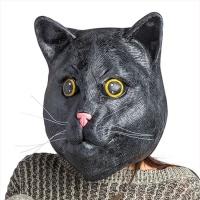 블랙캣 마스크 검은 고양이 파티 가면