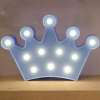 LED 앵두전구 조명등 (왕관 블루)