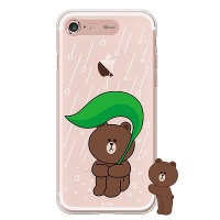 [SG DESIGN] iPHONE7 8 PLUS 라인프렌즈 브라운 RAIN