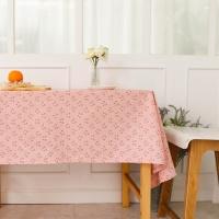 핑크 고양이 방수식탁보 테이블보
