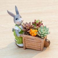 ROOGO 루고화분 토끼의 추수일기 토끼와 손수레