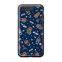 iPhone7 8 LINE FRIENDS BROWN PATTERN-AS Light UP Ca