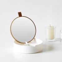 로이 액세서리 거울정리함 - 원형