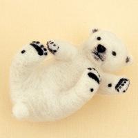 하마나카 아기 북극곰 양모펠트