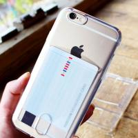 클리어 카드수납 젤리케이스(아이폰6/6S플러스)