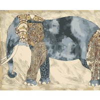 DIY 명화그리기키트 - 행운의 코끼리 40x50cm (물감2배, 컬러캔버스, 명화, 동물, 코끼리, 행운)