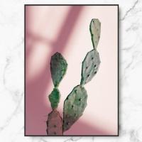 인테리어 액자 캑투스 핑크 라이트