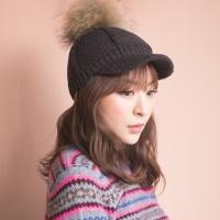 라쿤퍼 와플니트 헌팅캡 모자