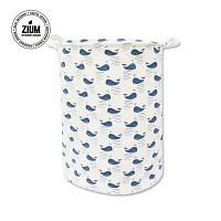 [무료배송] 북유럽풍 빨래바구니 푸른고래