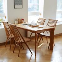 고운W 오크 4인 와이드 식탁세트 / 의자
