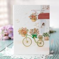 자전거 꽃바구니 카드 FT1036-1