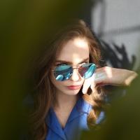 MINUIT RT E6001 C3 블루 미러 패션선글라스