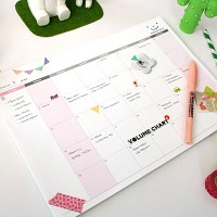MONTHLY DESK NOTE PAD
