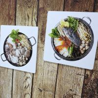 il016-스탠드액자2P_맛있는음식들1(해물탕,매운탕)