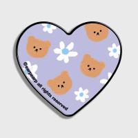 Dot flower bear-purple(하트톡)
