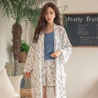 테라우드 여성용 플라워 실키 5부 주머니 바지 잠옷