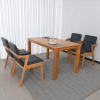 로안나 4인 원목 식탁 세트(의자형)
