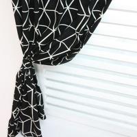 기하학 패턴 데코커튼 - 블랙