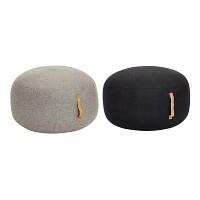 [Hubsch]Pouf w/leather strap, round, wool 스툴