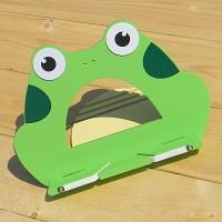 엘다원목으로 제작,태블릿 PC 거치대로도 사용 가능한-Woodro House 캐릭터 독서대 Series-개구리
