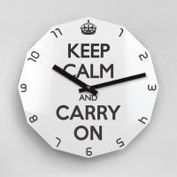 리플렉스 KEEP CALM AND CARRY ON 12각 무소음벽시계 KP12BK