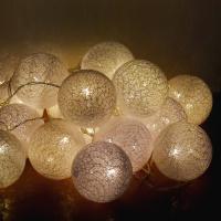 LED 코튼볼라이트 20P (화이트)