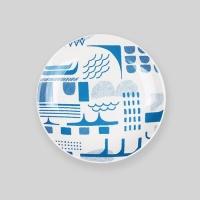 "Ocean blue bridge 6"" plate"