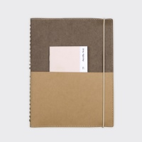 Half Diary L - Deep brown/Yellow ocher