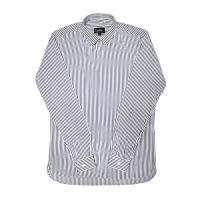 [게타] Black thin striped white shirt White