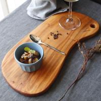 마호가니 원목 도마-피넛 플레이트