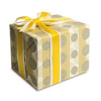 [인디고샵] 포장지 전통 구슬이음패턴 황색 (1개)