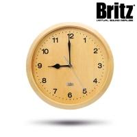 브리츠 27형 저소음 내츄럴우드 벽시계 BZ-C17W