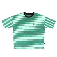 츄바스코 M. T-shirt. OF Stripe Green M17110