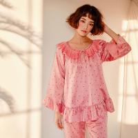 [쿠비카]레이스 라운드 넥 투피스 여성잠옷 W386