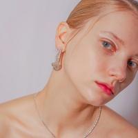 [Uni.J] i_e79 twist crystal line earring