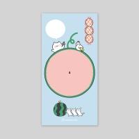 메모패드-16 수박냥 (봉지)