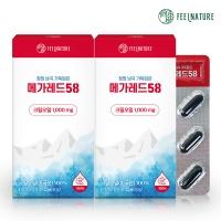 필네이처 크릴오일 인지질58% 메가레드58 (30캡슐 x2)