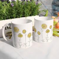 ci455-디자인머그컵2p-해바라기꽃밭일러스트