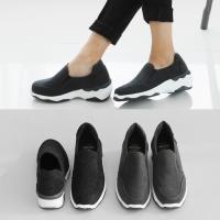 [애슬릿]안감 기모 스웨이드 여자 키높이 슬립온 6cm