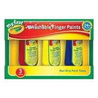 [크레욜라] 핑거페인트 150ml 3색(빨강,파랑,노랑) GY818108