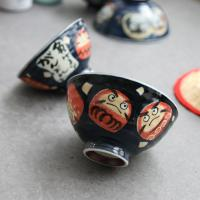 일본식기 다루마 공기와 대접