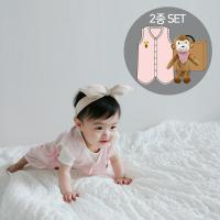 오가닉여름수면조끼세트(수면조끼+애착인형아기정글)