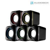 오디오박스 스테레오 미니 스피커 U-CUBE (6W / USB전원 / 스마트폰 & MP3 등 3.5mm 오디오 입력 장치)