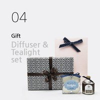 선물세트(Gift Set) - 차량용 디퓨저 + 티라이트 set (쇼핑백 포함)
