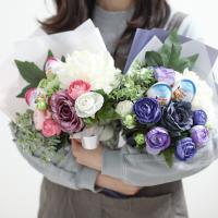 [DIY키트] 킨더조이 새콤달콤 라넌 꽃다발 만들기