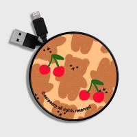 Dot cherry big bear-beige(스마트릴)